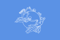 The flag of the Universal Postal Union, the UN agency that coordinates postal policies for member nations.
