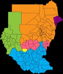 Sudan's political regions