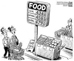 Higher food prices like higher energy prices
