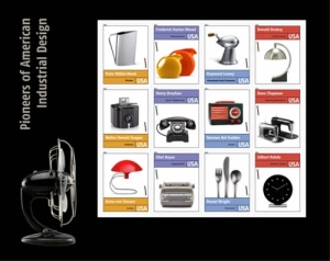 USPS Pioneers of American Industrial Design Postage Stamp Set