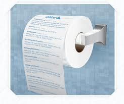 Toilet Paper Roll Advertising