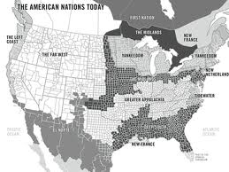 """American Nations,"" a book by Colin Woodard."