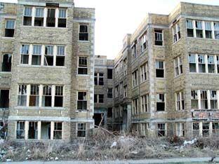 Abandoned Apartment Building in Detroit, MI