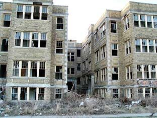 Abandoned Apartment Building in Detroit, MI