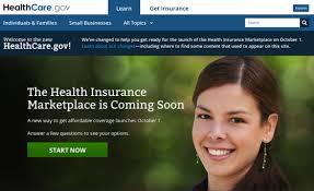 healthcare.gov landing page
