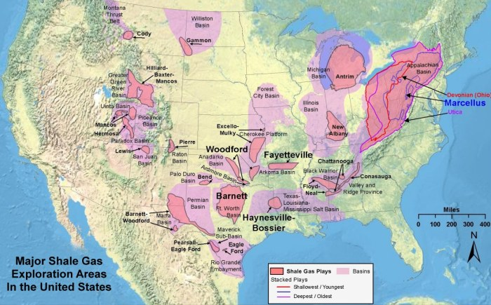 USA Shale Gas Exploration Zones