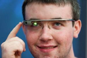 Google Glass wearer
