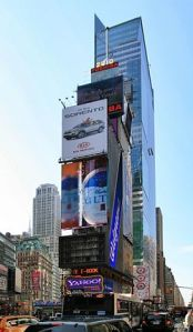 "At Times Square, it's ""location-location-location"" when it comes to advertising."