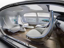"Mercedes-Benz ""car of the future"":  Seats facing every which-way."