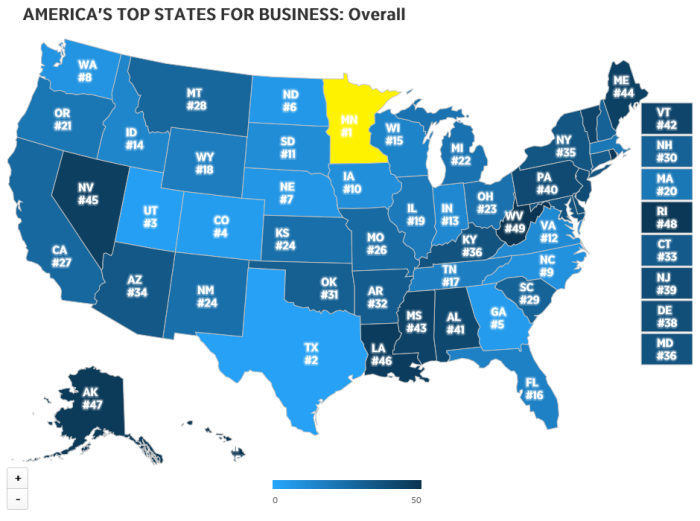 CNBC State Rankings for Business