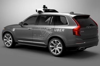 Uber's first self-driving fleet of cars arrives in Pittsburgh in August, 2016.